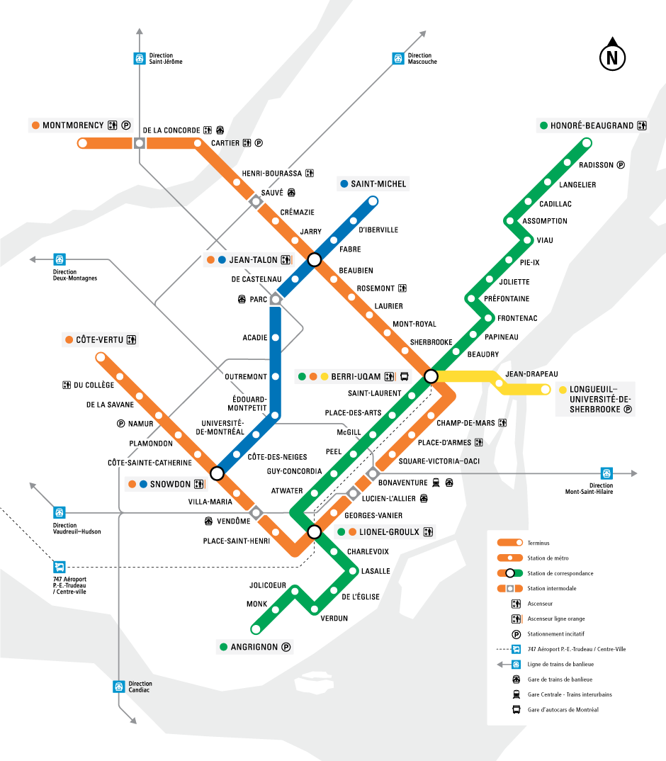 Montreal'de Ulaşım